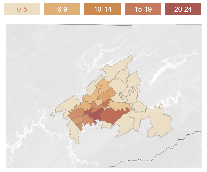 May 10th, 2020 Knox County COVID-19 Cases by ZIP Code